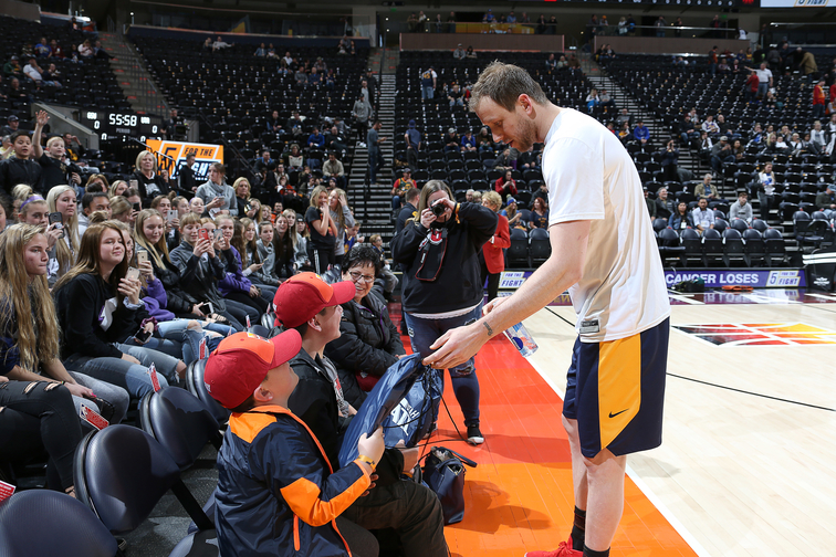 Utah Jazz host cancer fighters on 5 for the Fight Night  465652269