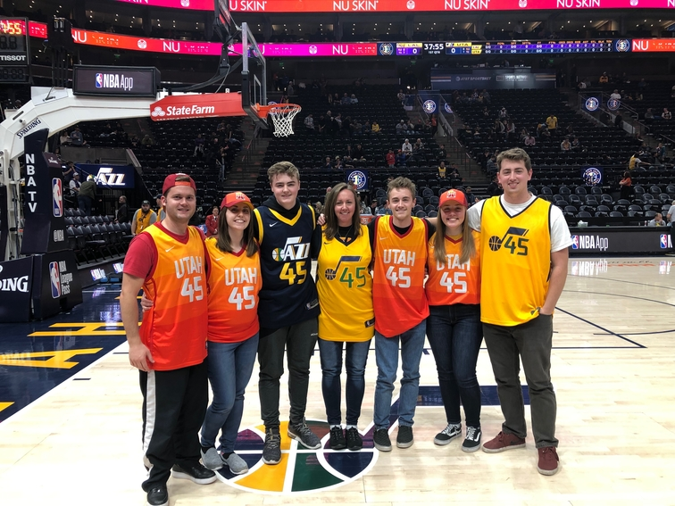 bdc9fd6e723 A family of Utah Jazz fans got a surprise Christmas gift from their late  father six months after his death