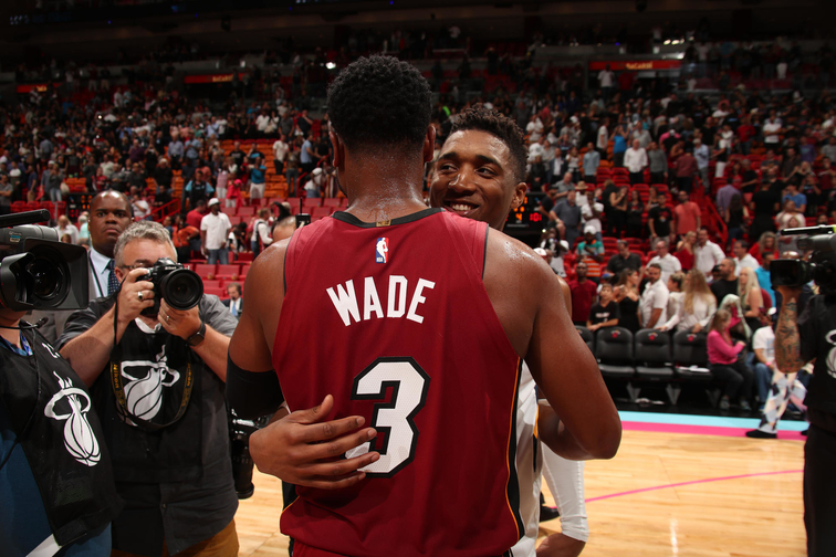 e4536164a3d Donovan Mitchell gave Dwyane Wade a rocking chair as a retirement gift. By  Aaron Falk. utahjazz.com