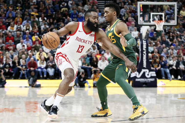 9baafe52bf4e The formula for defending James Harden  The Jazz are looking for it as they  prepare for Game 1 in Houston