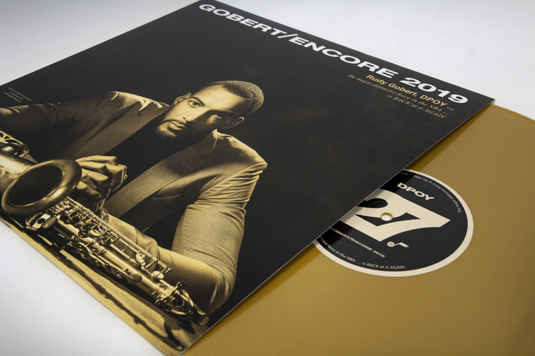 5419337bd1c Time for an Encore  Jazz launch Rudy Gobert s Defensive Player of the Year  campaign with commemorative vinyl