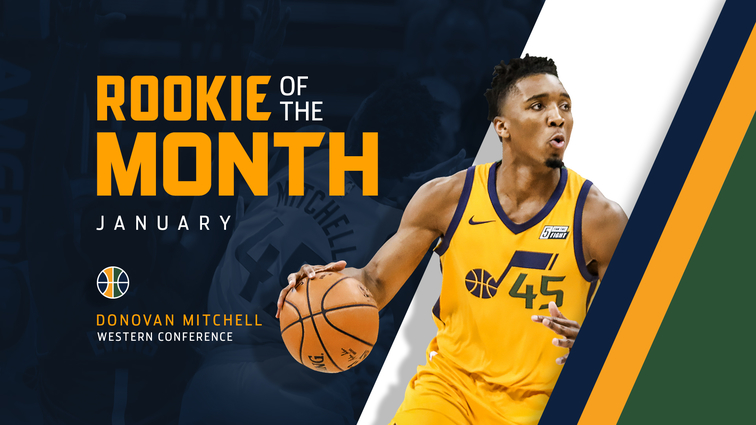 Donovan Mitchell Named Western Conference Rookie Of The
