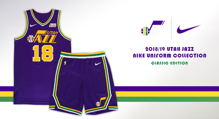 3450204e45db Jazz to Celebrate 40 Seasons with Classic Jerseys