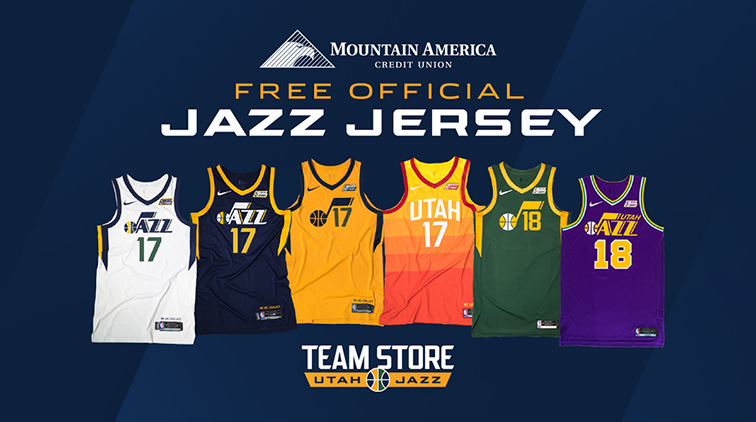 6cbe4be95c5 Get a free Utah Jazz jersey when you open a new account or loan with  Mountain America Credit Union