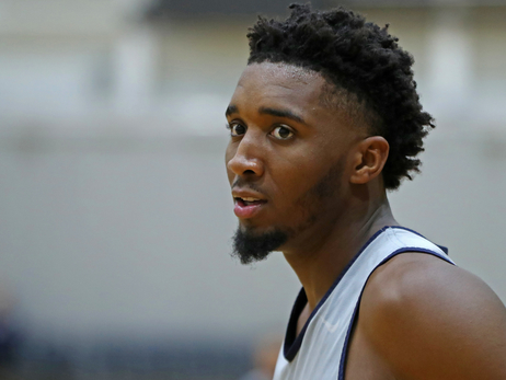 Donovan Mitchell practices in Australia with Team USA