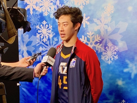 For champion figure skater Nathan Chen, the Utah Jazz are a connection with home