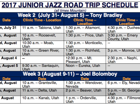 Junior Jazz Continues Summer Trip