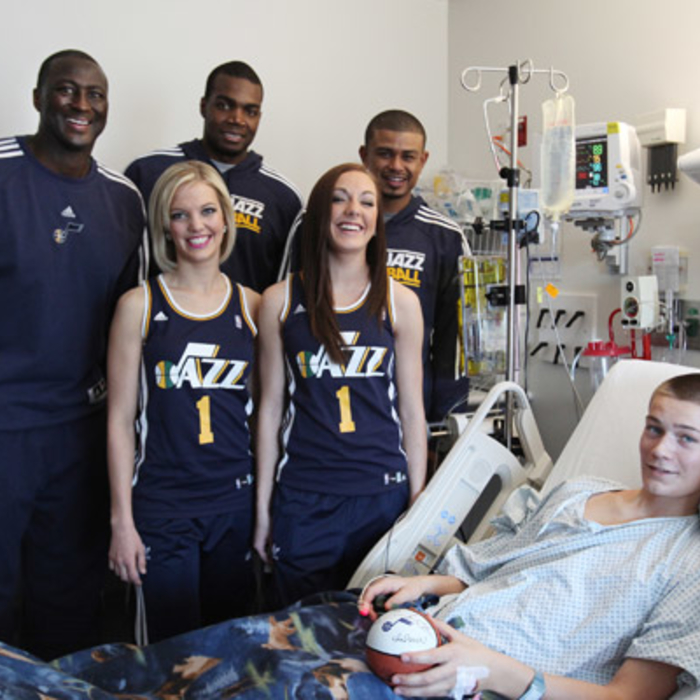 Jazz Visit Local Children's Hospitals