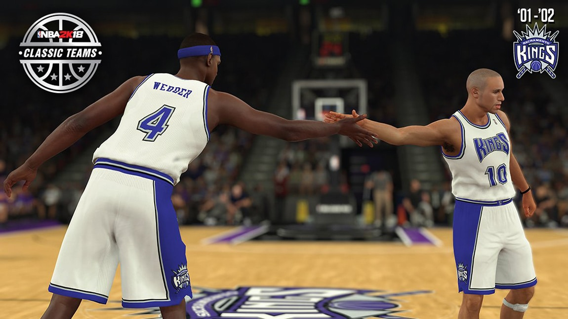 2001-02 Kings Featured as Classic Team in NBA 2K18