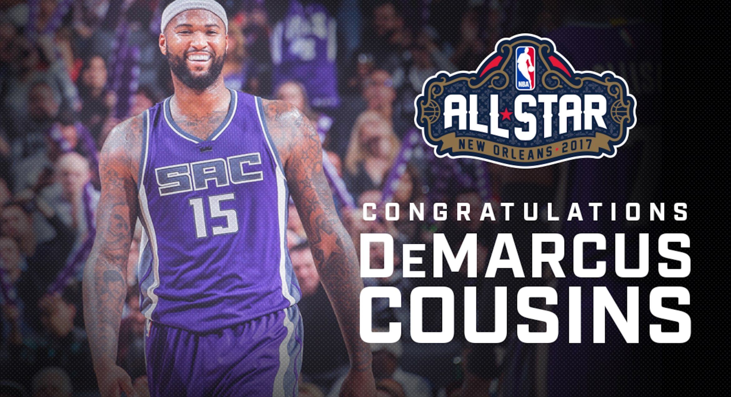 new product 03557 1703c DeMarcus Cousins Named 2017 Western Conference NBA All-Star ...