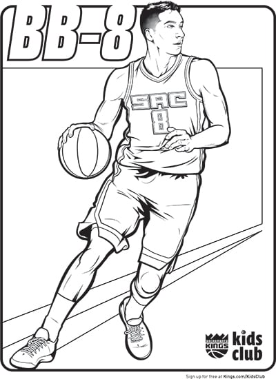 Kings Introduce New Coloring Pages Sacramento Kings