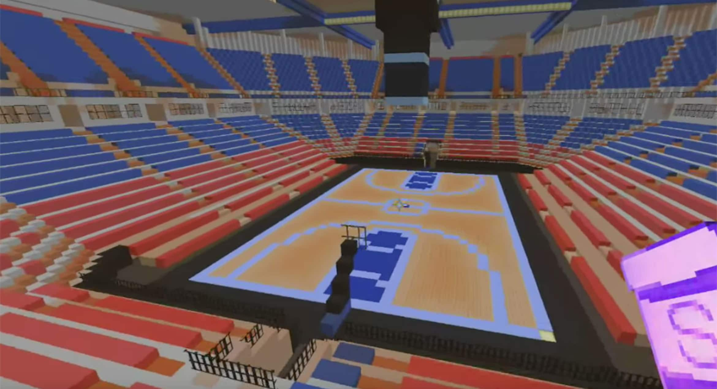 Fan Creates Sleep Train Arena in Minecraft | Sacramento Kings