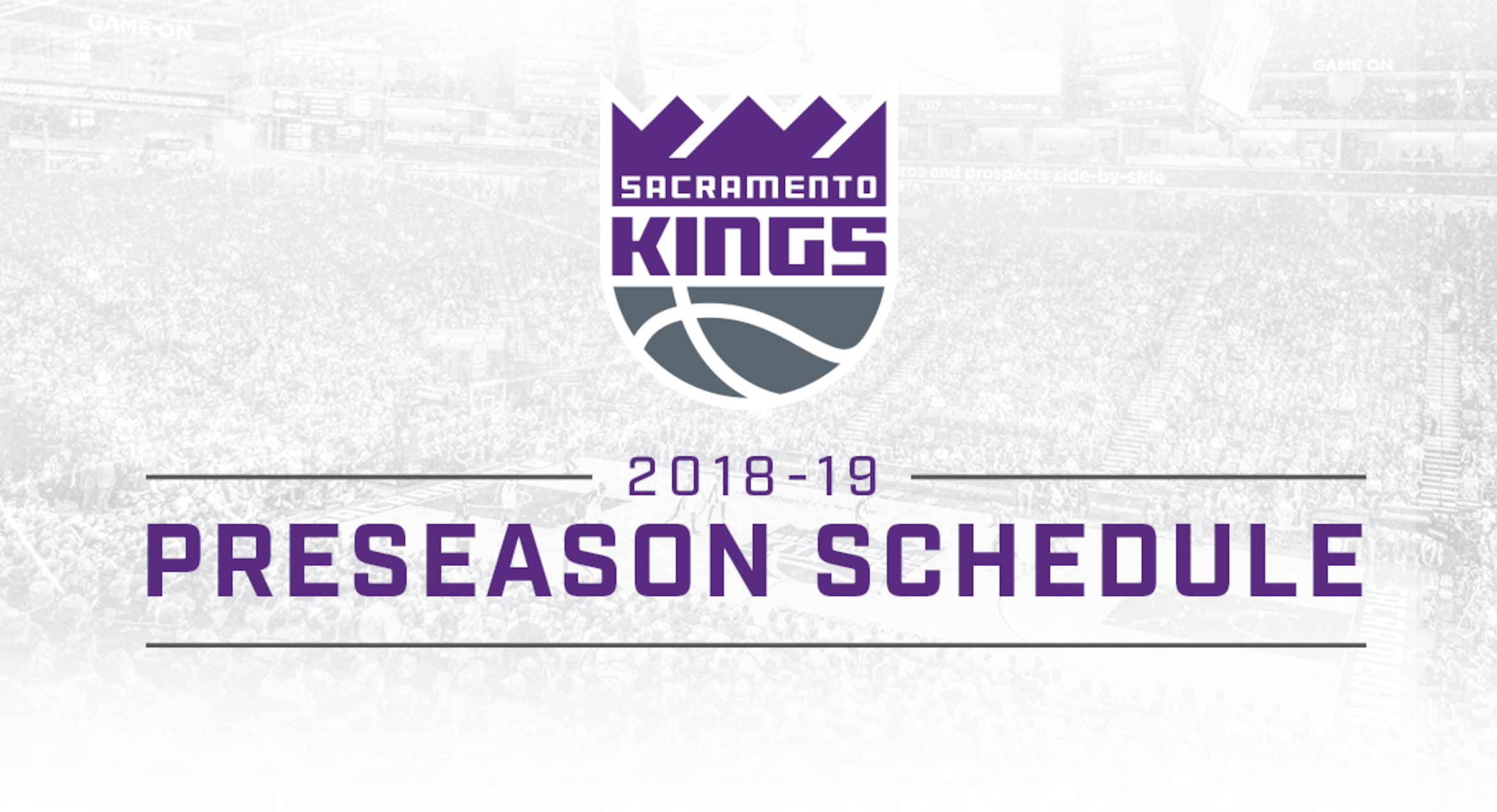 Kings Announce 2018-19 Preseason Schedule | Sacramento Kings
