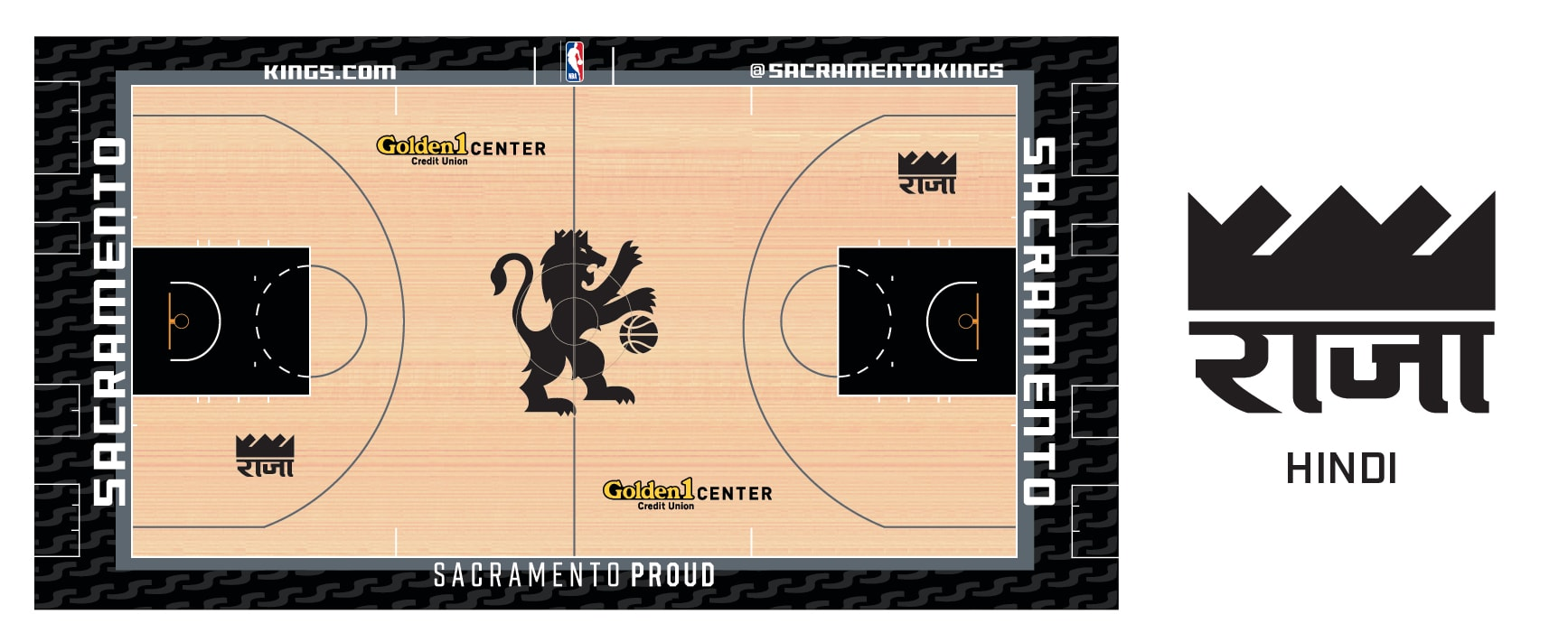 Sacramento kings debut new alternative court colorway with for the teams biggest global celebrations bollywood and lunar new year theme nights interchangeable panels featuring a new regional logo a kings crown biocorpaavc Choice Image