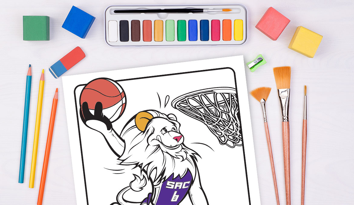 Kings Introduce New Coloring Page