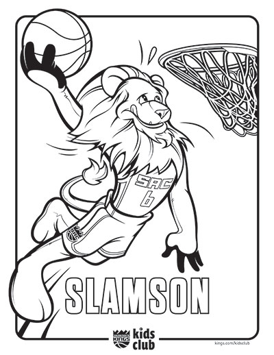 Kings Introduce New Coloring Pages | Sacramento Kings