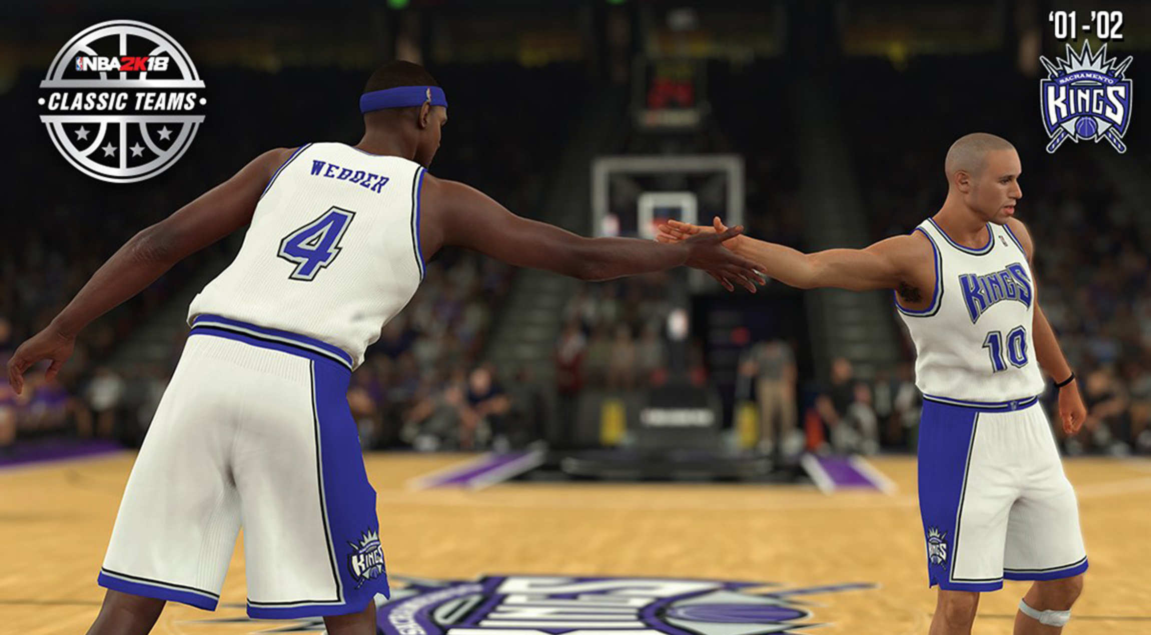 2001 02 kings featured as classic team in nba 2k18 sacramento kings