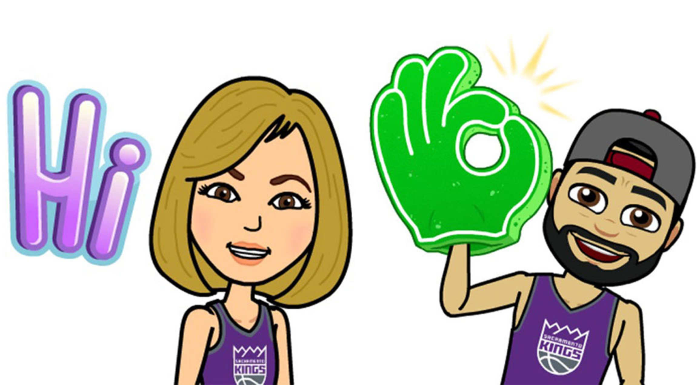 bitmoji debuts nba team pack sacramento kings