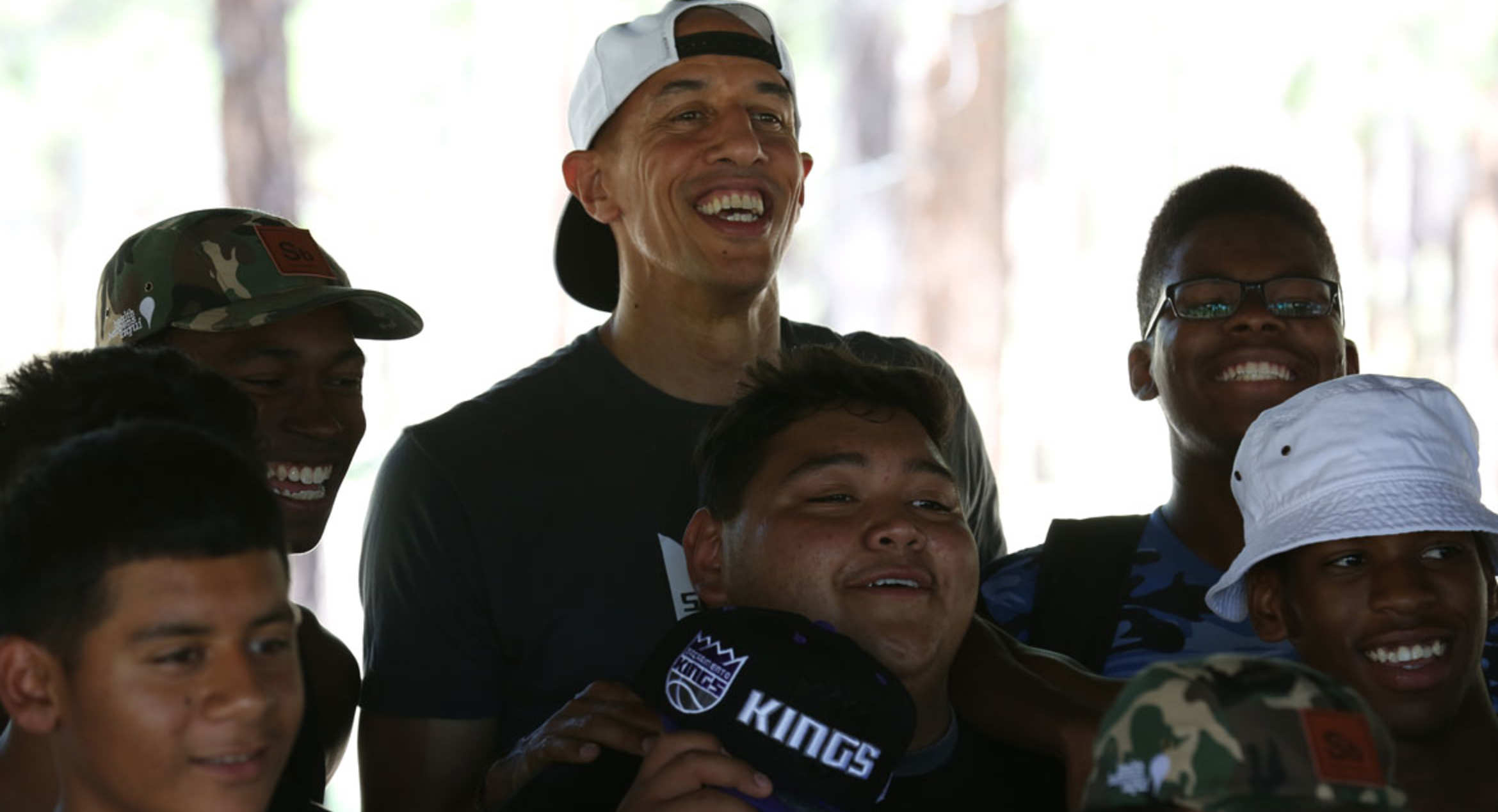 Doug Christie Visits Sons and Brothers Camp