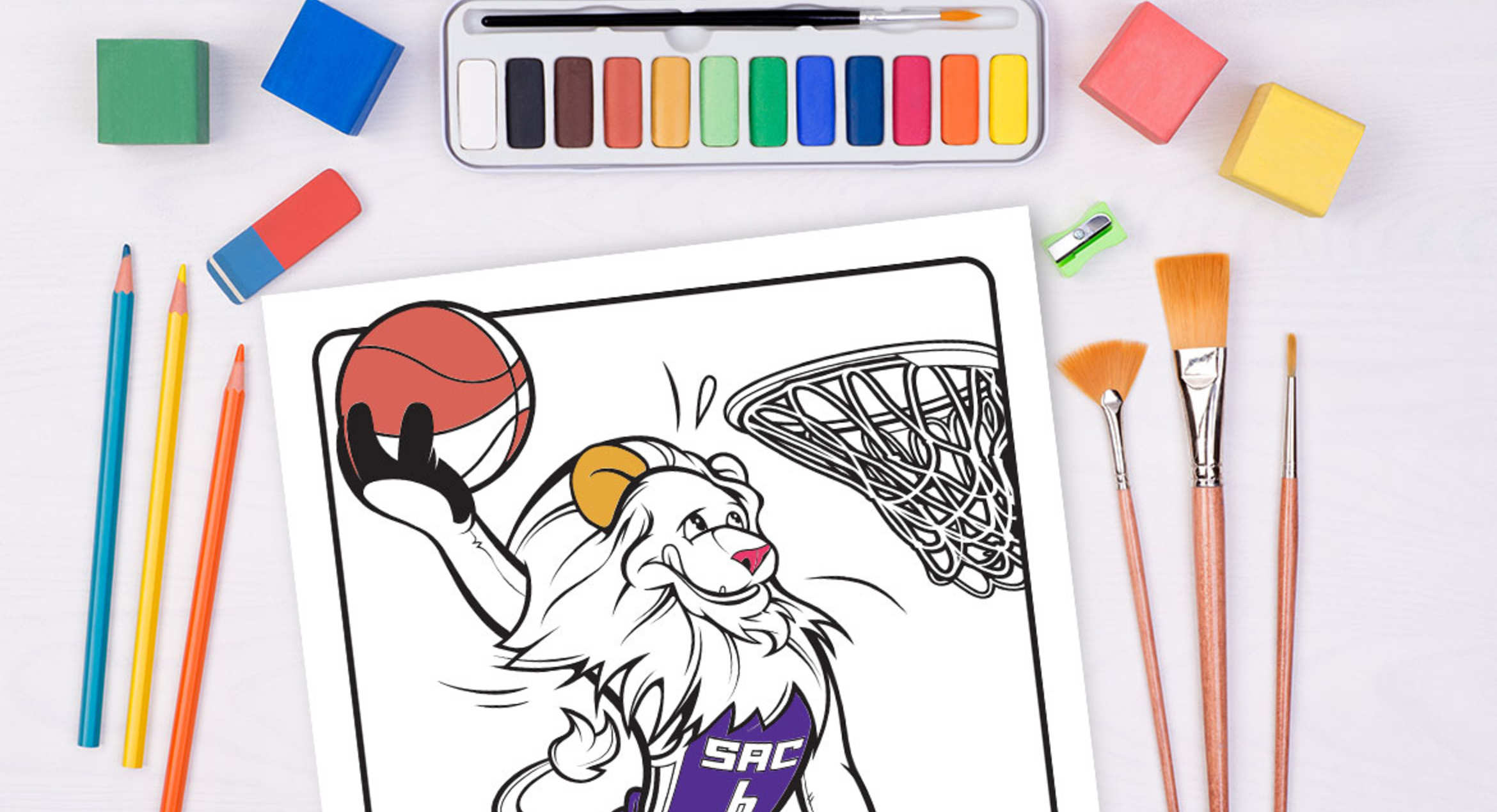 kings introduce first coloring page sacramento kings