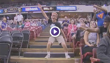 Hilarious Kid Dancing at Kings Game