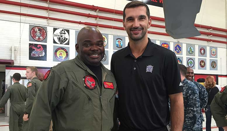 Kings Visit Coronado Naval Base