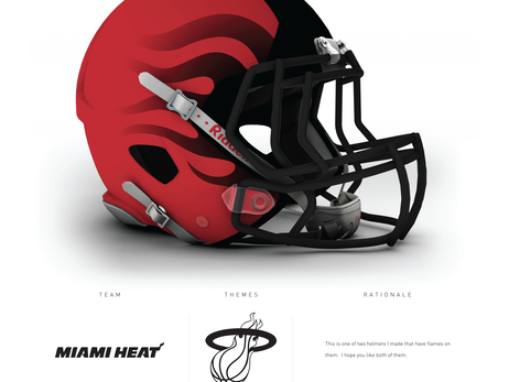 Designer Creates NBA Team Football Helmets