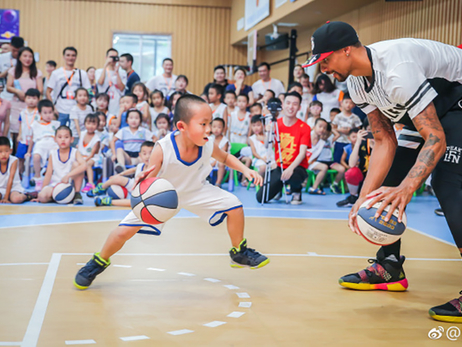 George Hill Hosts Basketball Camps in China