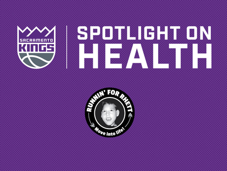 "Kings Host Spotlight on Health Night to Support Local Nonprofit ""Runnin' for Rhett"" and Bring Awareness to Healthy Living"
