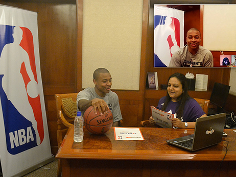 Isaiah Thomas Google Hangout in India