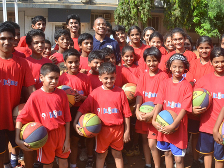 Reliance Foundation and NBA Launch Project to Install Basketball Hoops in Schools