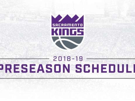 Kings Announce 2018-19 Preseason Schedule