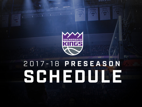 Kings Announce 2017-18 Preseason Schedule