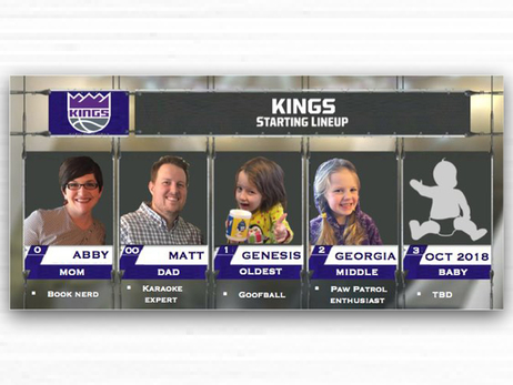 Father Pays Tribute to Kings While Announcing His New Starting Lineup