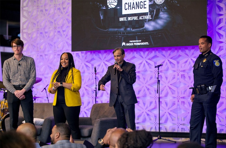At Team Up For Change Summit Sacramento Kings Foundation