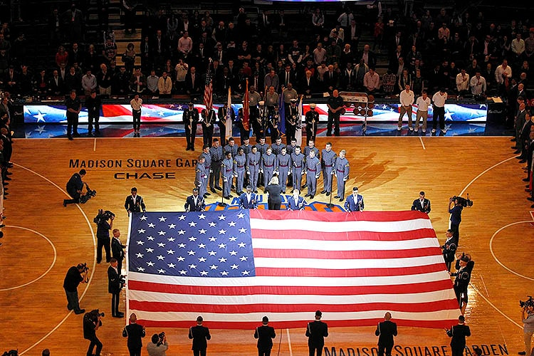 Gallery: Military Appreciation Night at The Garden | New ...
