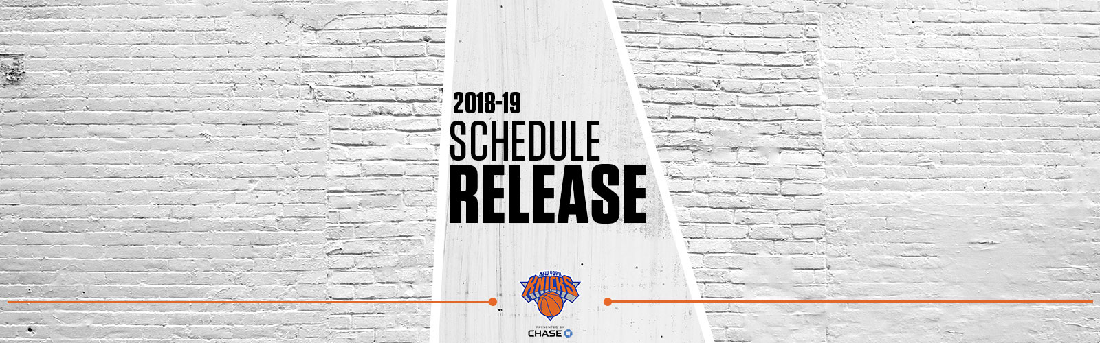 NEW YORK KNICKS 2018-19 SCHEDULE ANNOUNCED