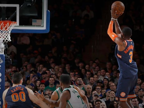 BOS 121, NYK 112: Burke Drops 26 and Hardaway Jr. Adds 17 in Battle Against Boston