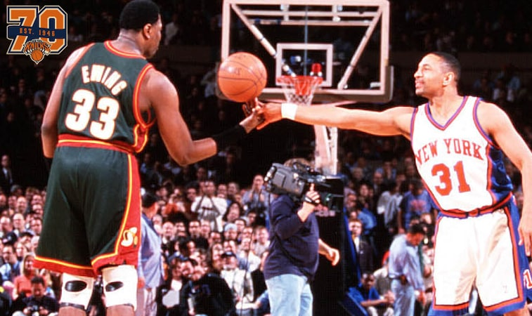 new style 21bb3 44120 NYK70 | 2000: Patrick Ewing's First Game vs Knicks | New ...