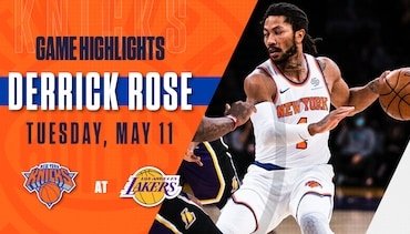 Highlights: Derrick Rose (27 Points) | Knicks @ Lakers