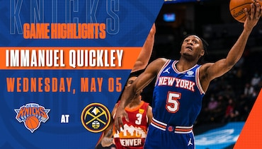 Highlights: Immanuel Quickley (18 Points) | Knicks @ Nuggets