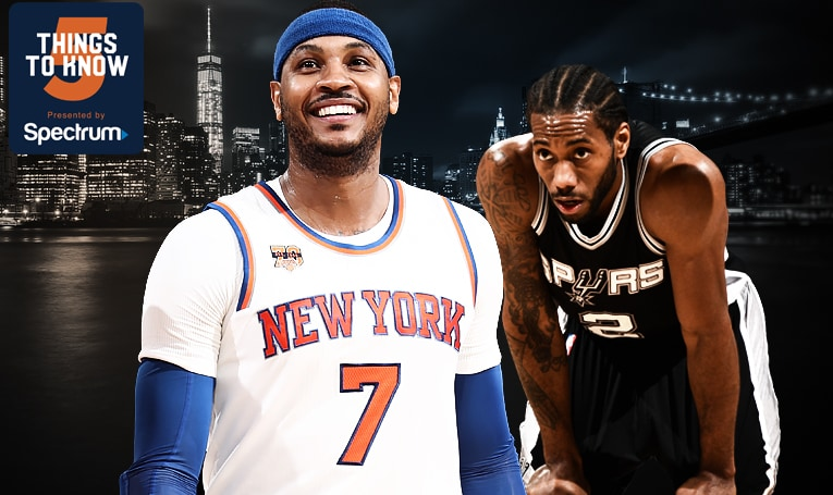 5 Things to Know: Spurs Make Their Lone Trip to MSG for Showdown Against Knicks