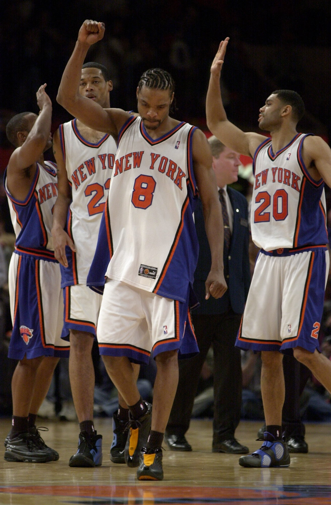 New York Knicks: Gallery: Sprewell In The Orange And Blue