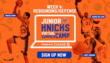 Work on Your Rebounding & Defense with Marcus Camby, Jerome Williams, Larry Johnson, and your Junior Knicks Virtual Coaches