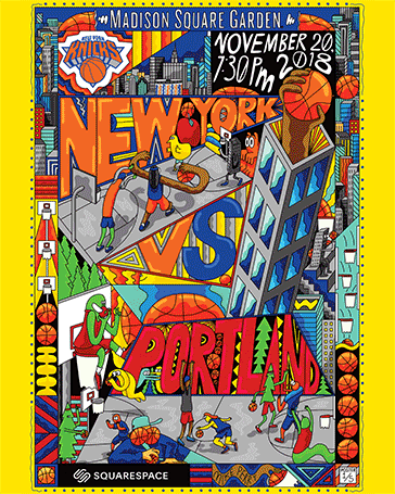 Knicks x Squarespace: First Exclusive Full-Arena Poster Giveaway