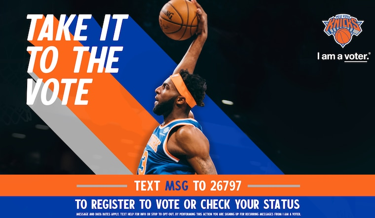 Text MSG to 26797 to Register to Vote or Check Your Registration Status