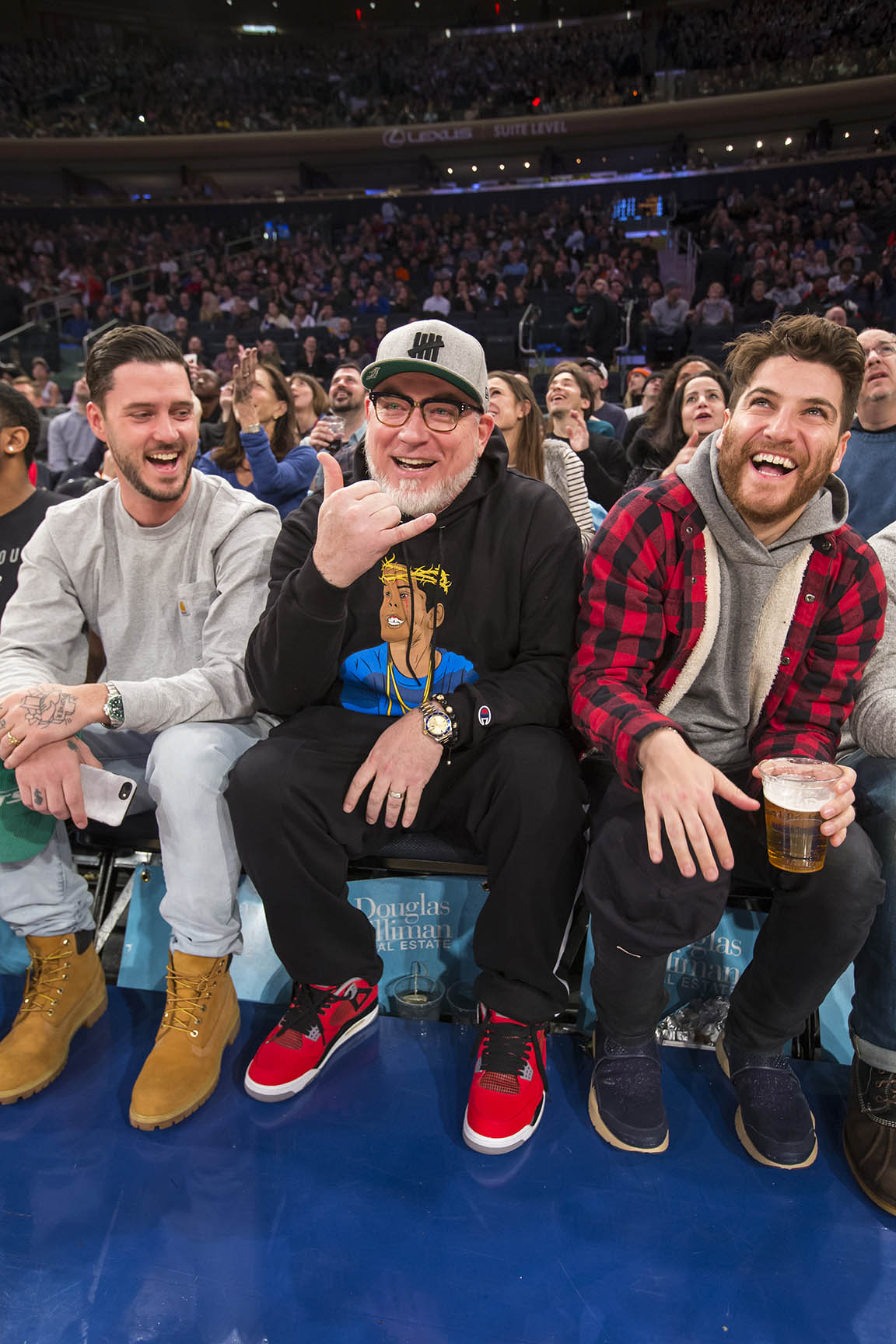 Knicks game celebrity row nashville