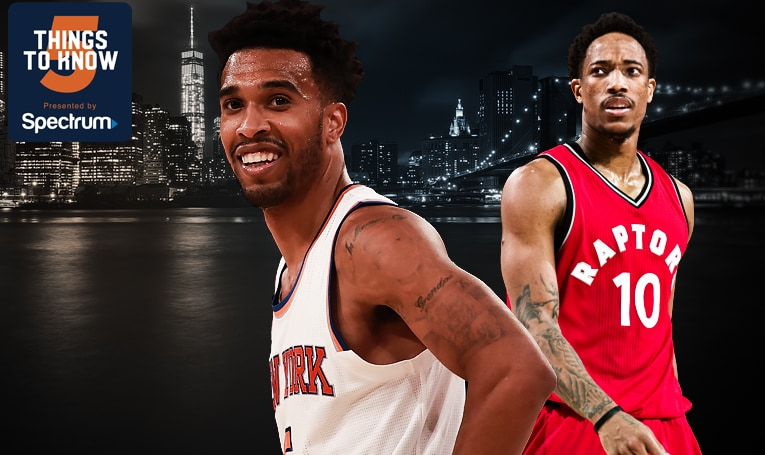 5 Things to Know: Knicks Host Raptors in Matinee at MSG