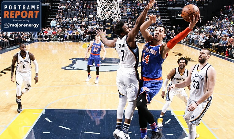 MEM 101 NYK 88: Conley and Carter Power Grizzlies Past Knicks in Memphis
