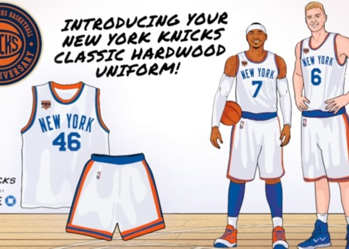 the latest b7f30 6c4c7 Exclusive First Look at Knicks Hardwood Classic Jersey | New ...